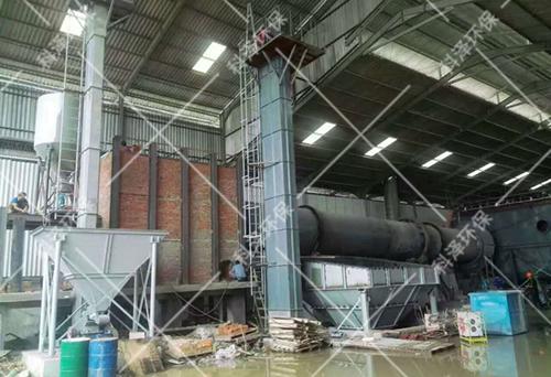 台时产量20T/H煤泥烘干现场