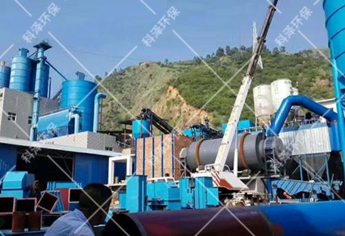 年产30万吨干粉砂浆线生产现场